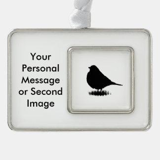 Robin Silhouette Love Bird Watching Christmas Ornament
