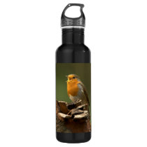 Robin Singing Liberty Stainless Steel Water Bottle