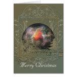 Robin Snowglobe Christmas Card