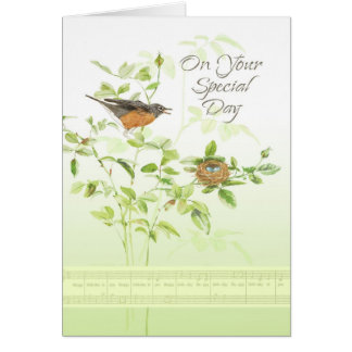 Robin Song Birthday Card