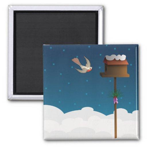 Robin, square magnet magnet