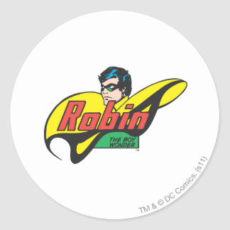 Robin The Boy Wonder Classic Round Sticker