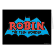 Robin The Teen Wonder Logo Card