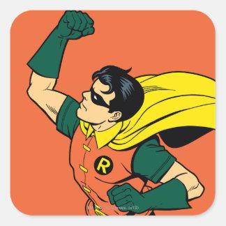 Robin Uppercut Square Sticker