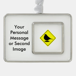 Robin Warning Sign Love Bird Watching Ornament