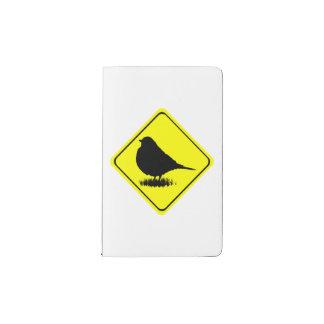 Robin Warning Sign Love Bird Watching Pocket Moleskine Notebook