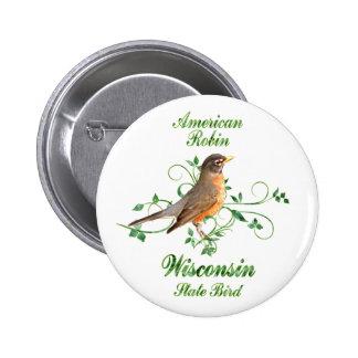 Robin Wisconsin State Bird Pins