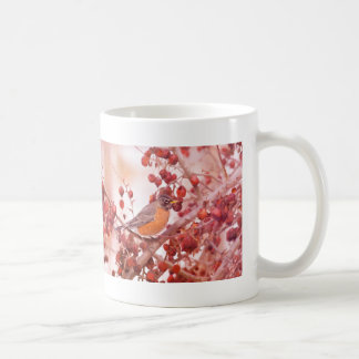 Robin With Red Berries Mugs