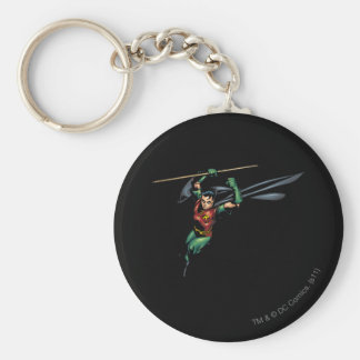 Robin with Staff - Leaps Keychain