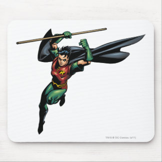 Robin with Staff - Leaps Mouse Pad