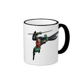 Robin with Staff - Leaps Ringer Coffee Mug