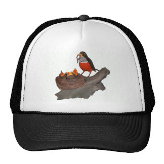Robin With Trucker Hat