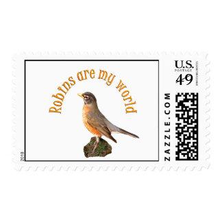 Robins are my World Stamp