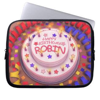 Robin's Birthday Cake Laptop Sleeves