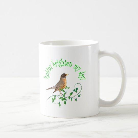Robins Brighten My Day Coffee Mug
