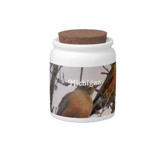 Robins Candy Jar