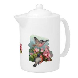 Robins & Cherry Blossoms Teapot