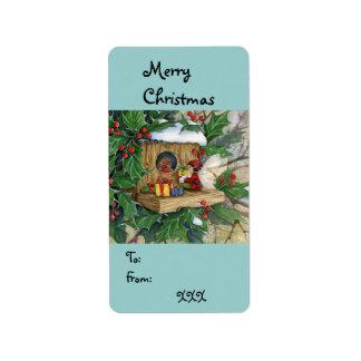 """""""Robin's Christmas"""" Tag-label"""