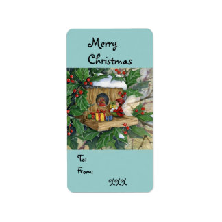 """""""Robin's Christmas"""" Tag-label Label"""