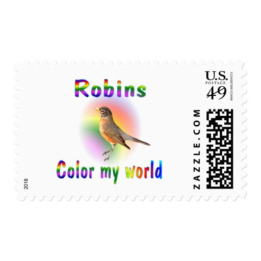 Robins Color My World Postage