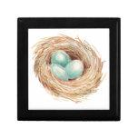 Robin's Egg Bird Nest Watercolor Gift Box