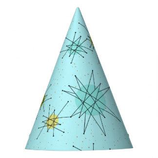 Robin's Egg Blue Atomic Starbursts Party Hat