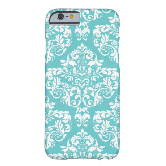 Robin's Egg Blue Damask Phone Case Barely There iPhone 6 Case