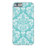 Robin's Egg Blue Damask Phone Case iPhone 6 Case