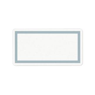 Robins egg blue frame blank address label