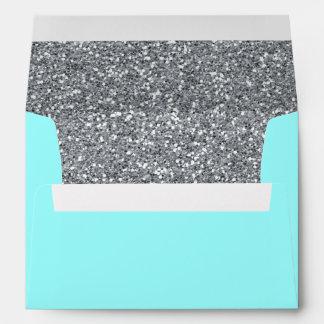 Robin's Egg Blue & Glitter A7 Envelopes