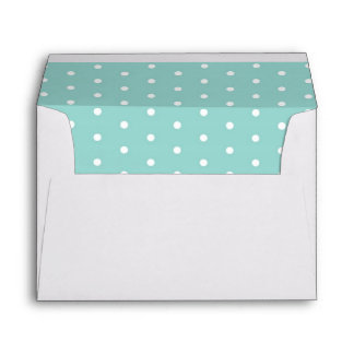 Robin's Egg Blue Jewelry Box with polka dots Envelope