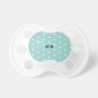 Robin's Egg Blue Jewelry Box with polka dots Pacifier