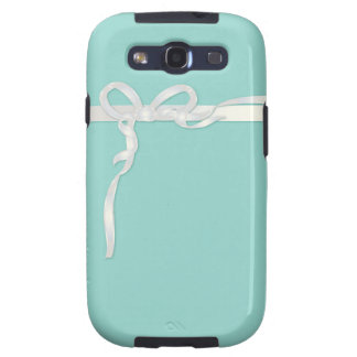 Robin's Egg Blue Jewelry Box with White Ribbon Samsung Galaxy SIII Cases