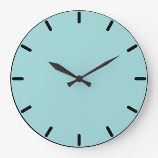 Robin's Egg Blue Round Wall Clock
