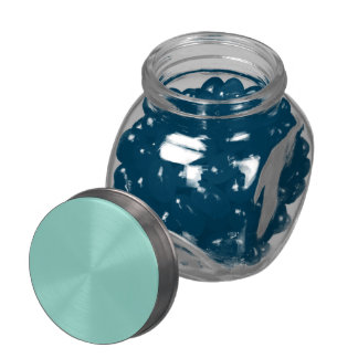 Robin's Egg Blue Solid Color Glass Candy Jars