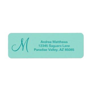 Robin's Egg Blue Solid Color Return Address Label