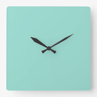 Robin's Egg Blue Solid Color Square Wall Clock