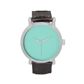 Robin's Egg Blue Solid Color Wristwatch