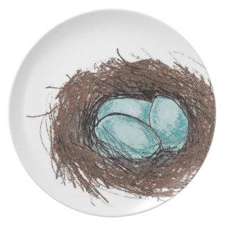 Robin's Egg Nest Plate for Spring Time