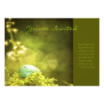 Robins Egg on Moss Photo with Inspirational Quote Personalized Invitations