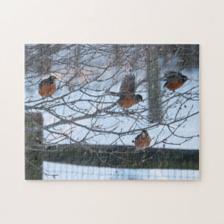 Robins in Snow Puzzle