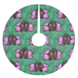 Robins in Spring Brushed Polyester Tree Skirt