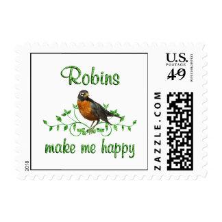 Robins Make Me Happy Postage