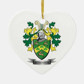 Robinson Coat of Arms Ceramic Ornament