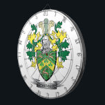 "Robinson Coat of Arms Dart Board<br><div class=""desc"">Get your Robinson surname family crest or coat of arms printed on all these inexpensive gifts.  English Robinson Family Crest and Robinson Coat of Arms</div>"