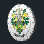 """Robinson Coat of Arms Dart Board<br><div class=""""desc"""">Get your Robinson surname family crest or coat of arms printed on all these inexpensive gifts.  English Robinson Family Crest and Robinson Coat of Arms</div>"""