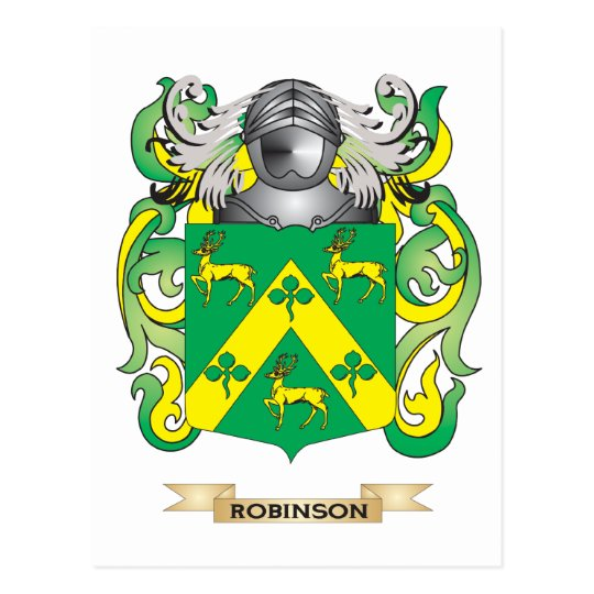 Robinson Coat of Arms (Family Crest) Postcard