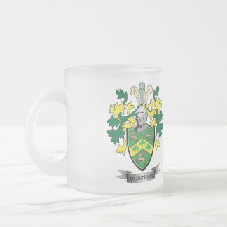 Robinson Coat of Arms Frosted Glass Coffee Mug