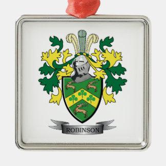 Robinson Coat of Arms Metal Ornament