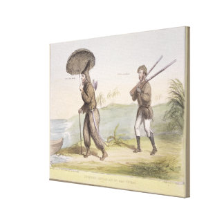 Robinson Crusoe and his Man Friday, (HB Sketches N Canvas Print